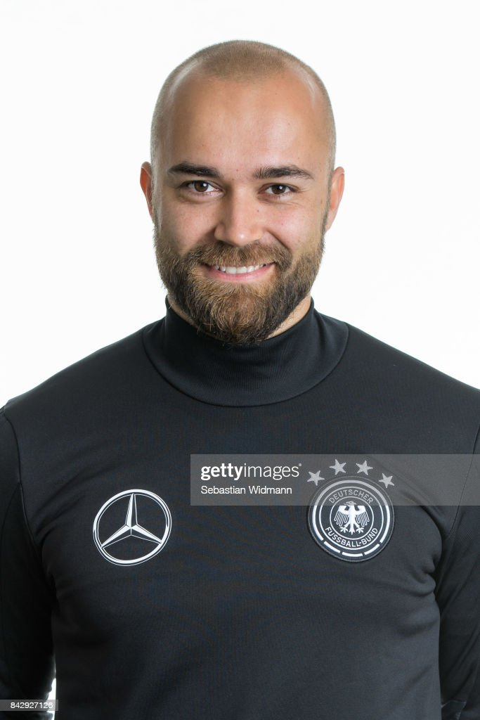 Fitness coach Robert Benke poses during the Germany U17 team presentation on September 5, 2017 in Haarbach, Germany.