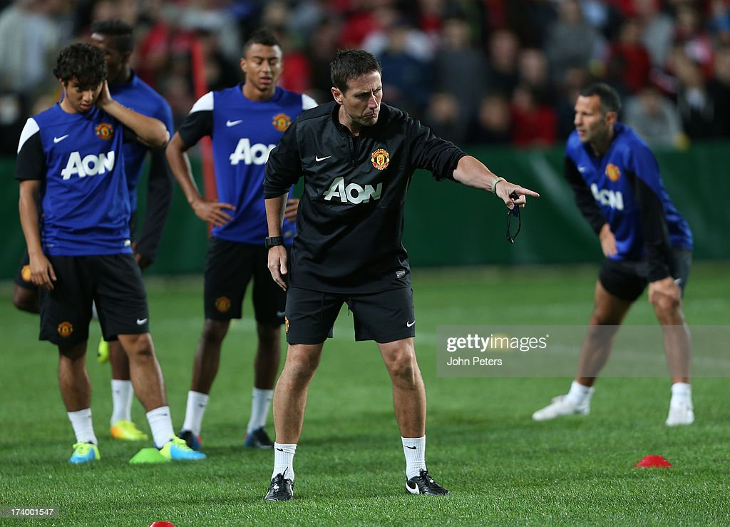 Fitness Coach Tony Strudwick of Manchester United in action during a first team training session as part of their pre-season tour of Bangkok, Australia, China, Japan and Hong Kong on July 19, 2013 in Sydney, Australia.