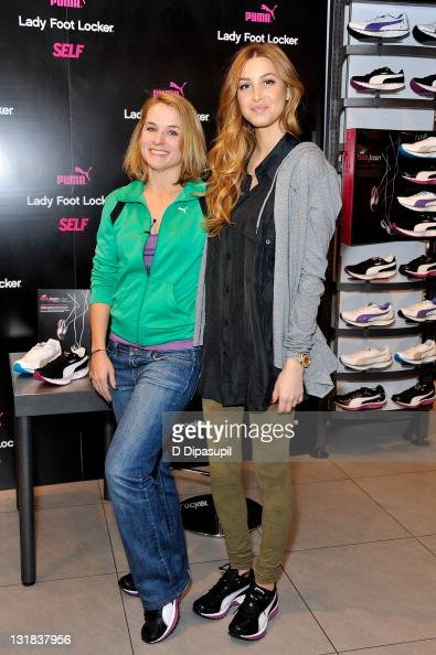 Fitness Director and Certified Trainer Meaghan Murphy and designer/TV personality Whitney Port attend the launch of the PUMA BodyTrain Collection at...