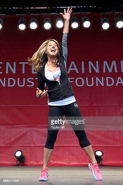 Fitness expert Denise Austin attends the 17th Annual Revlon Run/Walk For Women on May 3 2014 in New York City