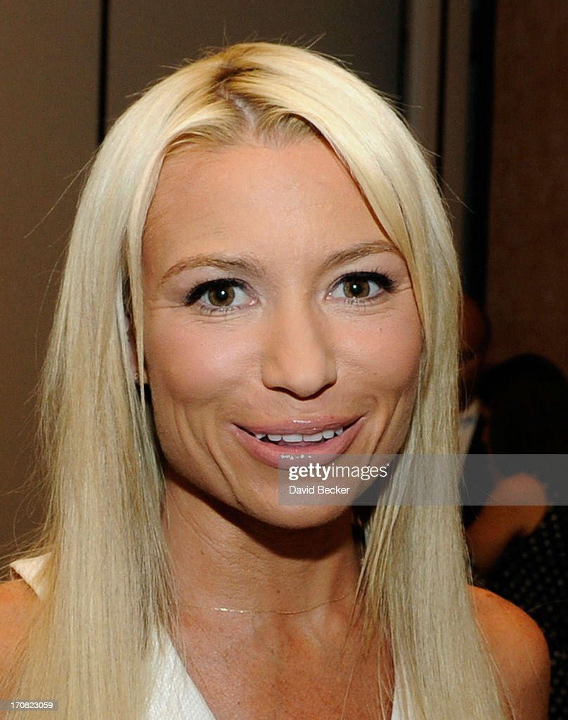 Fitness expert <a gi-track='captionPersonalityLinkClicked' href=/galleries/search?phrase=Tracy+Anderson&family=editorial&specificpeople=2525428 ng-click='$event.stopPropagation()'>Tracy Anderson</a> appears at the Licensing Expo 2013 at the Mandalay Bay Convention Center on June 18, 2013 in Las Vegas, Nevada.