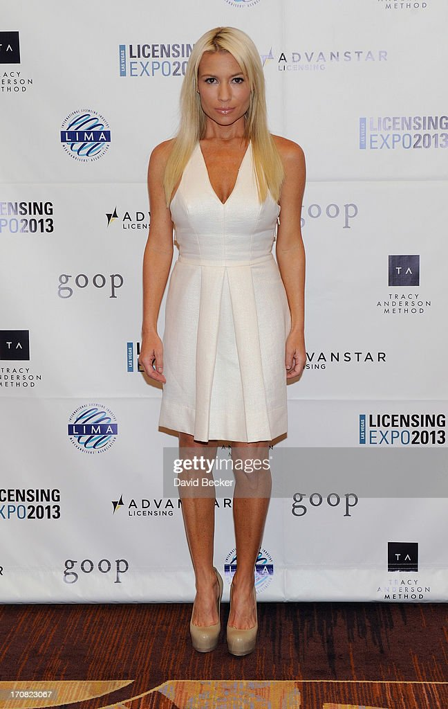 Fitness expert Tracy Anderson appears at the Licensing Expo 2013 at the Mandalay Bay Convention Center on June 18 2013 in Las Vegas Nevada