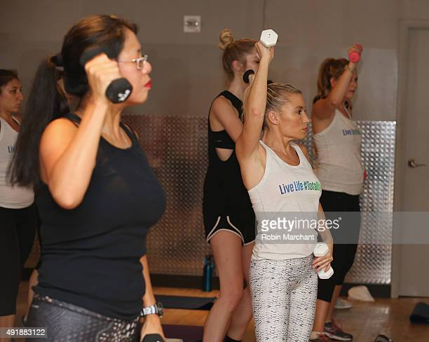 Fitness Expert Tracy Anderson attends her Zicam Total Immune Launch Event on October 7 2015 in New York City