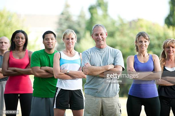 Fitness group outside