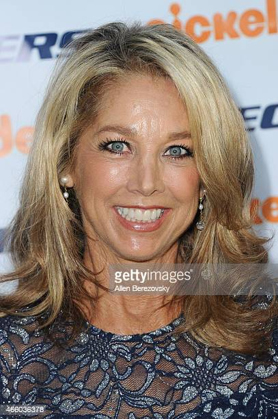 Fitness guru Denise Austin attends the 6th Annual Skechers Pier to Pier Friendship Walk check presentation at Shade Hotel on March 12 2015 in...