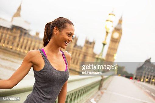 fitness in London : Foto de stock