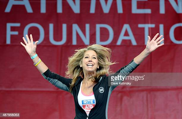 Fitness instructor Denise Austin speaks onstage at the 17th Annual EIF Revlon Run Walk For Women on May 3 2014 in New York City