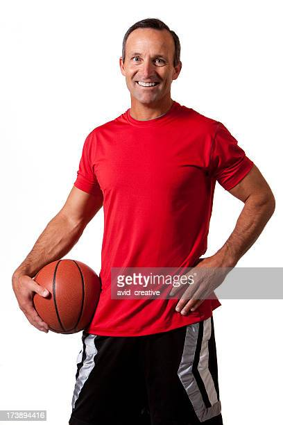 Fitness: Mid-Adult Basketball Player Portrait