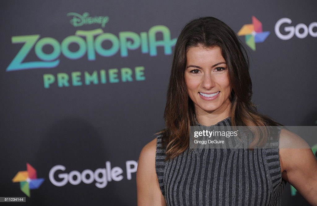 Fitness model and personal trainer Jen Widerstrom arrives at the premiere of Walt Disney Animation Studios' 'Zootopia' at the El Capitan Theatre on February 17, 2016 in Hollywood, California.
