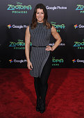 Fitness model and personal trainer Jen Widerstrom arrives at the premiere of Walt Disney Animation Studios' 'Zootopia' at the El Capitan Theatre on...