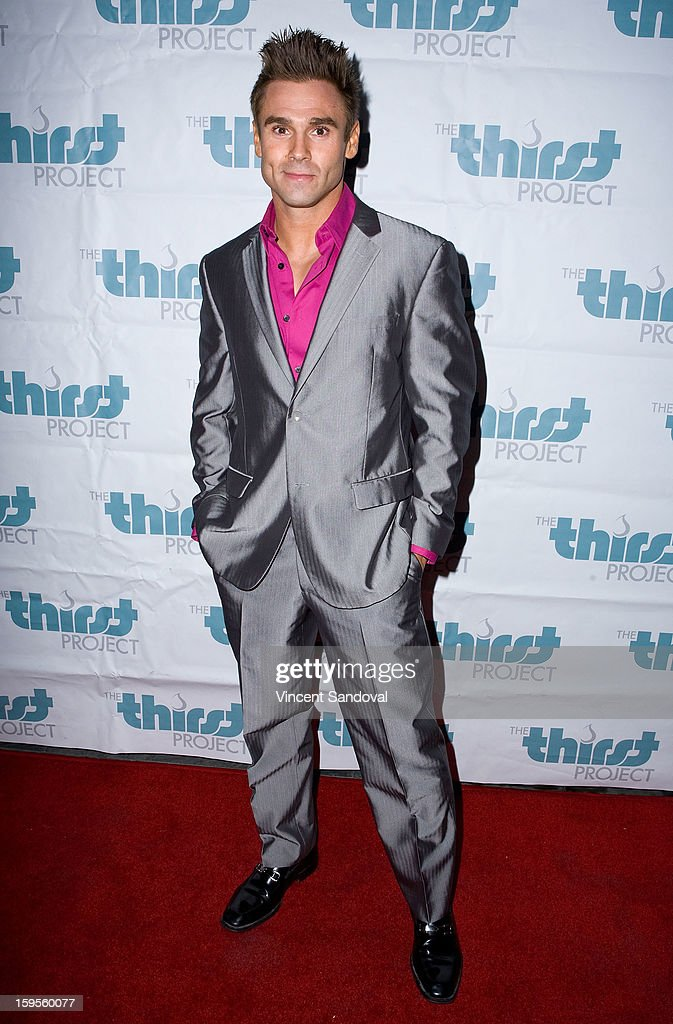 Fitness model Matt Christianer attends the Thirst Project charity cocktail party at Lexington Social House on January 15, 2013 in Hollywood, California.