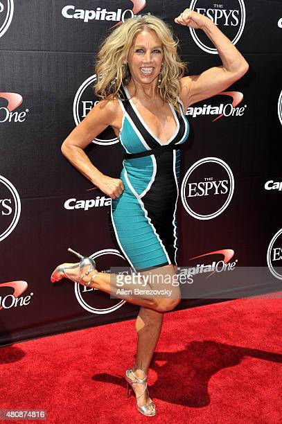 Fitness personality Denise Austin arrives at the 2015 ESPYS at Microsoft Theater on July 15 2015 in Los Angeles California
