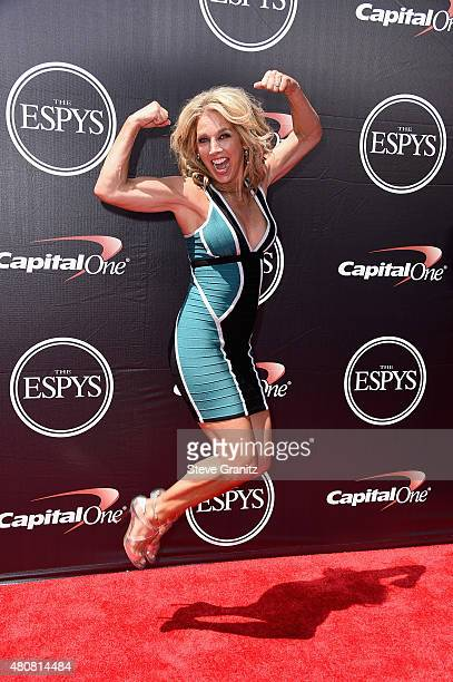 Fitness personality Denise Austin attends The 2015 ESPYS at Microsoft Theater on July 15 2015 in Los Angeles California
