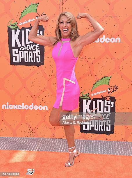 Fitness trainer Denise Austin attends the Nickelodeon Kids' Choice Sports Awards 2016 at UCLA's Pauley Pavilion on July 14 2016 in Westwood California