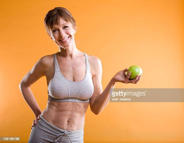 Fitness-Mature Woman Healthy Eating