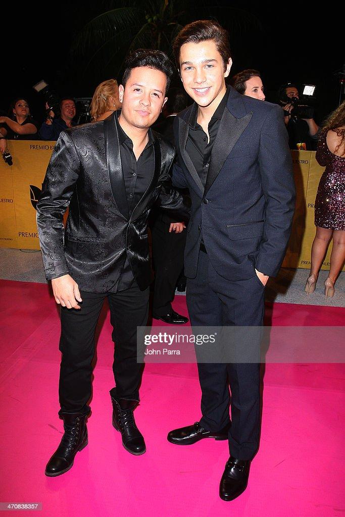 Fito Blanko and Austin Mahone attends Premio Lo Nuestro a la Musica Latina 2014 at American Airlines Arena on February 20, 2014 in Miami, Florida.