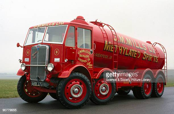 Fitted with a Tillotson cab and Thomson tank this eightwheel lorry was used by J M Mills Ltd of Liverpool for transporting industrial alcohol The...