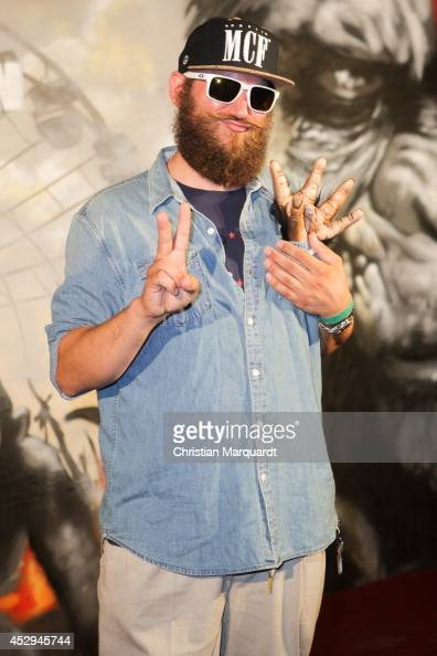 Fitti attends a special preview for the film 'Dawn of the Planet of the Apes' at Freizeitpark Spreepark on July 30 2014 in Berlin Germany