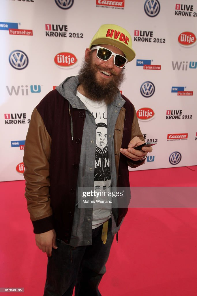 MC Fitty attends the '1Live Krone' at Jahrhunderthalle on December 6, 2012 in Bochum, Germany.