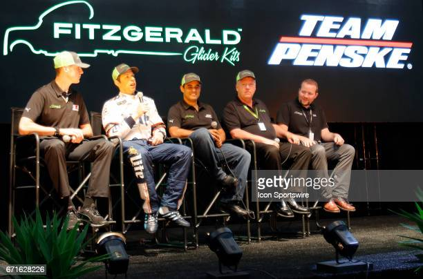Fitzgerald Glider Kits hold a press conference to announce thier sponsorship of Austin Cindric Brad Keselowski and Juan Pablo Montoya on April 22...