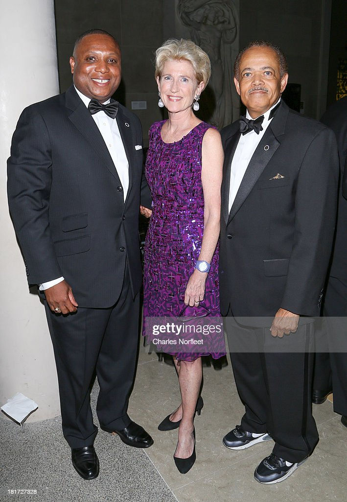 Fitzgerald Miller, Metropolitan Museum of Art President Emily K. Lafferty, and William H. Burgess III attend 2013 Multicultural Gala: An Evening Of Many Cultures at Metropolitan Museum of Art on September 23, 2013 in New York City.