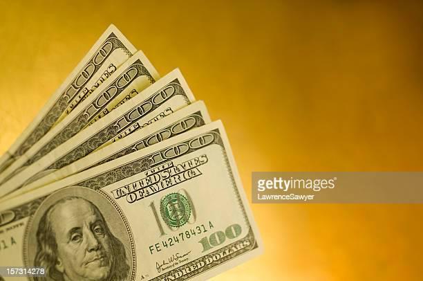 Les billets de 100 dollars américains
