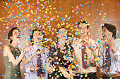 Five Businesspeople at Office Party