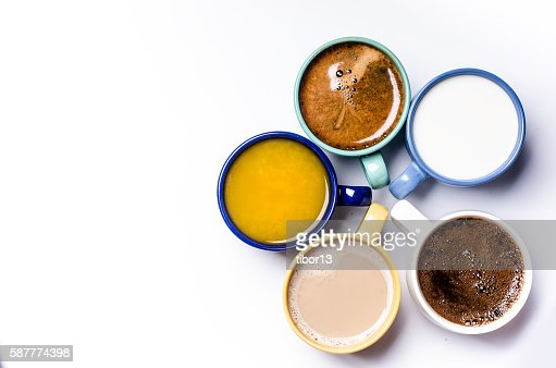 Five  cups on a white background : Stock Photo