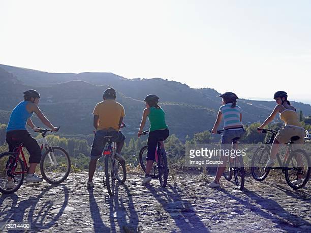 Five cyclists