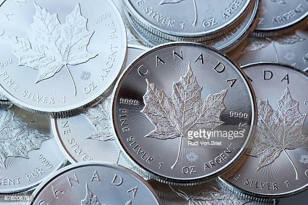 Five dollar silver coin.