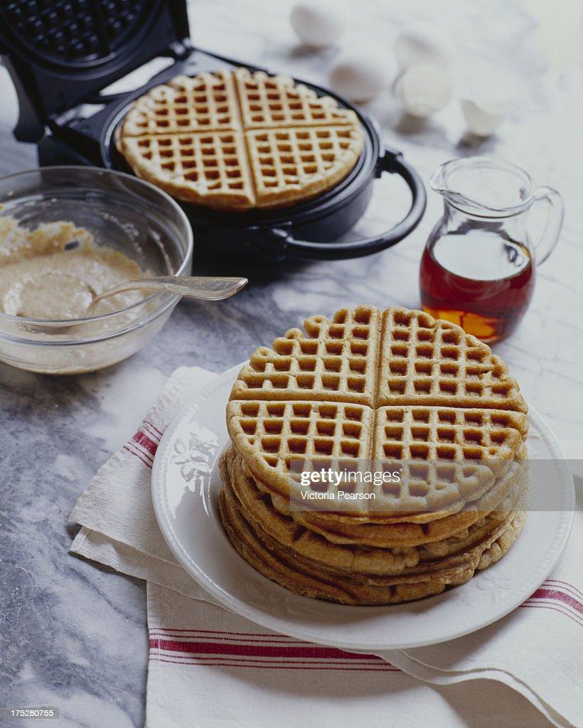 Five grain Waffles with Waffle Maker
