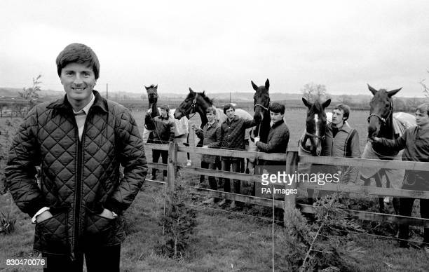Five horses from the Harewood stables near Leeds of Michael Dickinson who finished in the first five places in the 1983 Cheltenham Gold Cup race * LR...