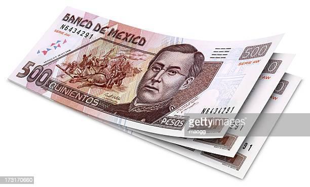 Pesos mexicanos billetes de banco de quinientos