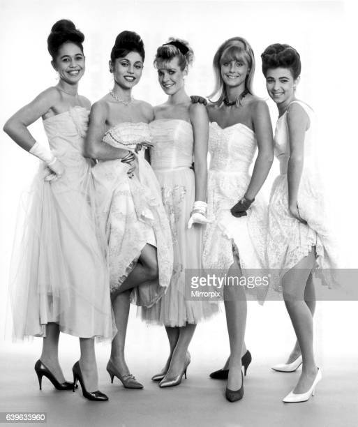 Five MIss World girls dressed how they would have looked if they entered the first ever contest held 31 years ago Left to right Teura Tuhiti 17...