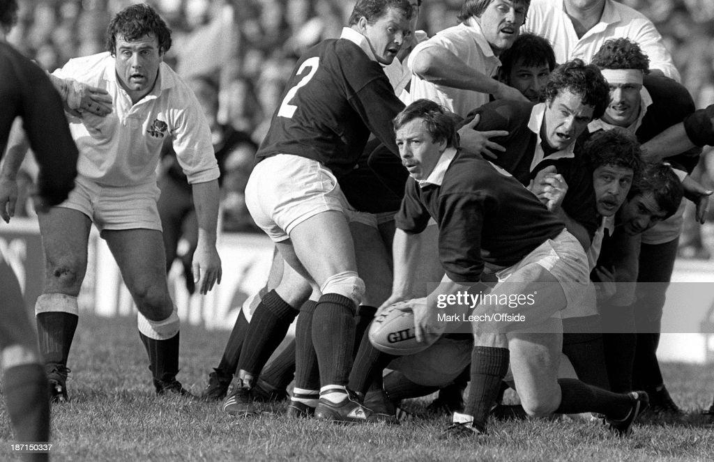 Five Nations Rugby England v Scotland Scottish scrum half Roy Laidlaw