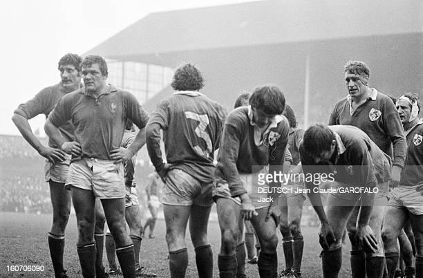Five Nations Tournament 1975 Irelandfrance Irlande février 1975 Dublin à Lansdowne Road lors d'un match les joueurs de l'équipe irlandaise de rugby à...