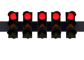 Five red lights