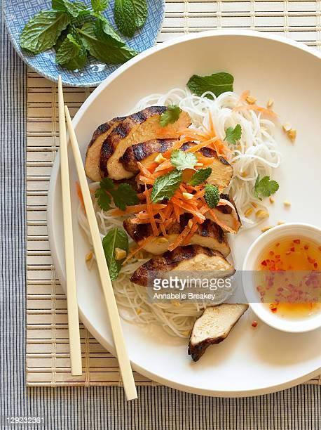 Five spice chicken noodle salad