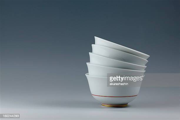 Five tea cups