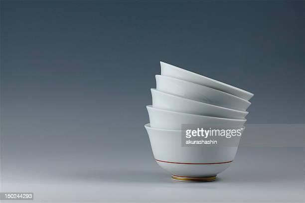 Five tea cups