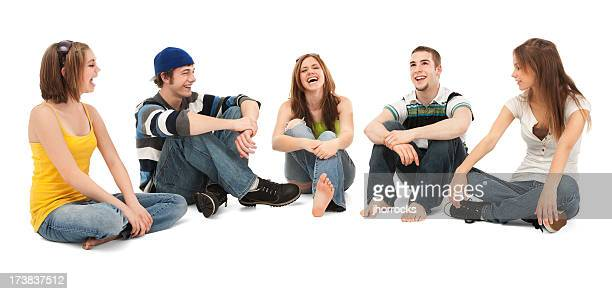 Five Teen Friends Laughing
