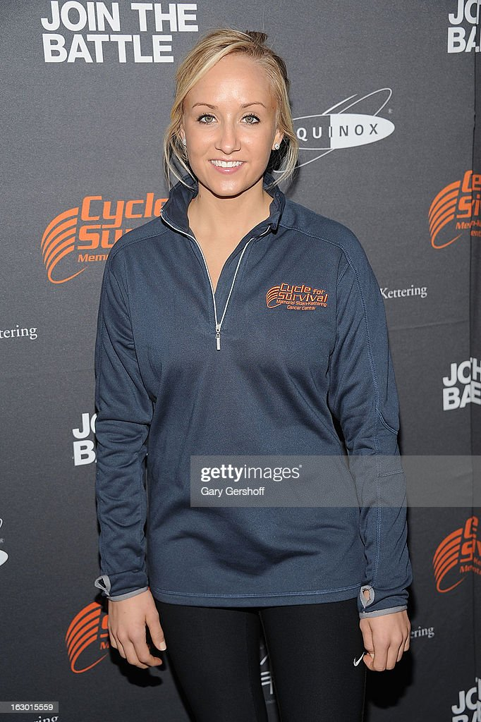 Five time U.S Olympic medalist Nastia Liukin attends the 2013 Cycle For Survival Benefit at Equinox Rock Center on March 3, 2013 in New York City.