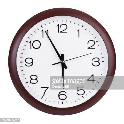 Fünf bis sechs Stunden auf die Uhren : Stock-Foto