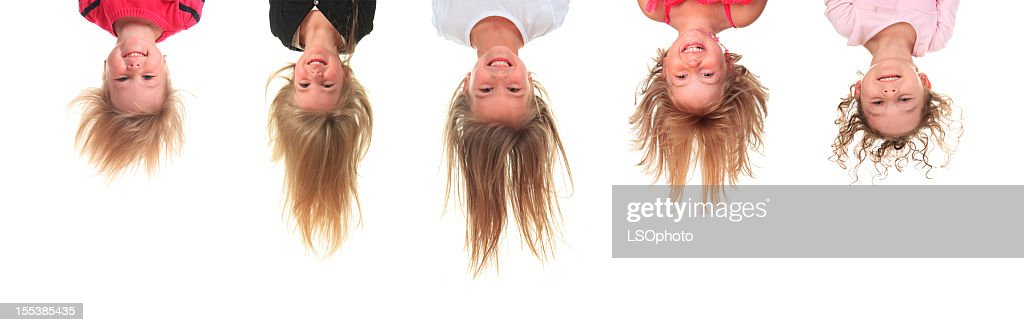 Five Upside Down Little Girl