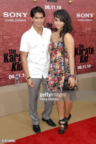 Fivel Stewart and BooBoo Stewart attend PREMIERE OF COLUMBIA PICTURES THE KARATE KID at Mann's Village Theatre on June 7 2010 in Westwood California