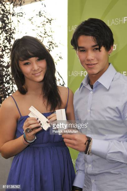 Fivel Stewart and BooBoo Stewart attend Silver Spoon Presents Oscar Weekend Red Cross Event For Haiti Relief at Interior Illusions on March 3 2010 in...