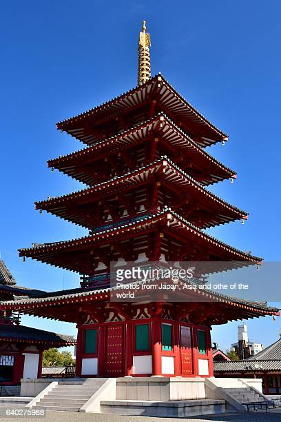Five-story Pagoda of Shitenno-ji Temple, Osaka, Japan