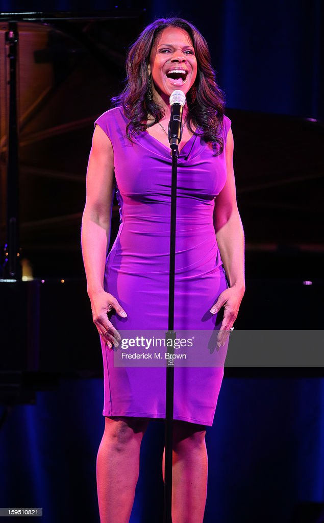 Five-Time Tony winner Audra McDonald peforms onstage for the 'LIVE From Lincoln Center' performance during the PBS portion of the 2013 Winter Television Critics Association Press Tour at the Langham Huntington Hotel & Spa on January 14, 2013 in Pasadena, California.