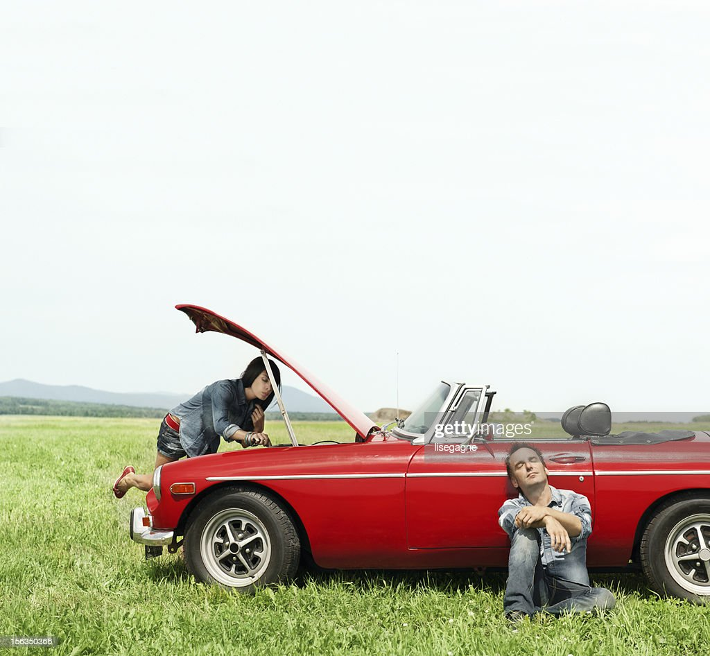 Fixing car : Stock Photo