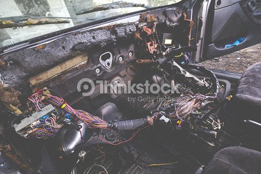 Admirable Fixing Electric Wiring System In Grunge And Old Car Interior Stock Wiring Cloud Intapioscosaoduqqnet